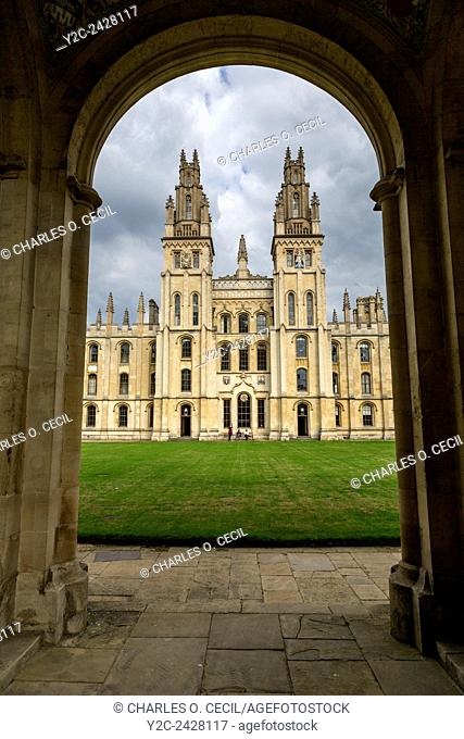 UK, England, Oxford. Codrington Library, All Souls College