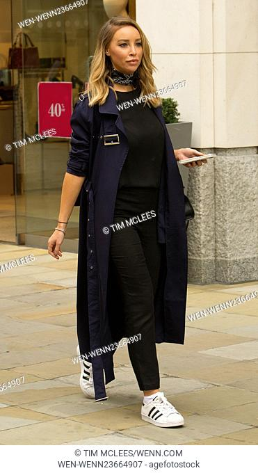 Lauren Pope seen out and about in Chelsea London at business meetings at Richard Wards Salon in Sloane Square whilst promoting her Hair rehab Company Featuring:...