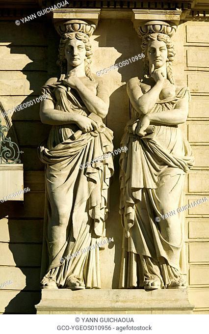 Facades, Place de La Comedie, Montpellier,France