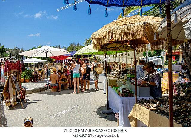 Hippy flea market, Sant Joan de Labritja, Ibiza, Balearic Islands, Spain