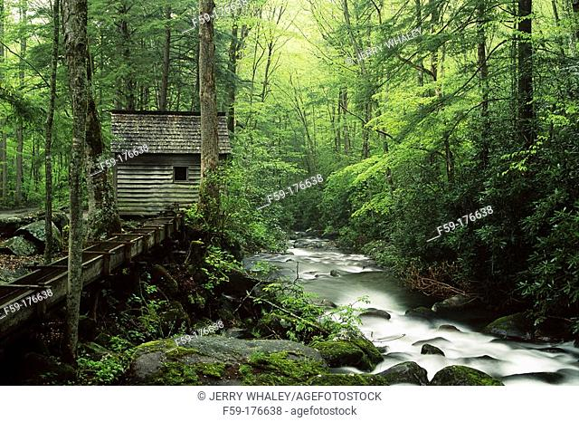 Reagan tub mill. Roaring Fork. Great Smoky Mountains NP. Tennesse. USA