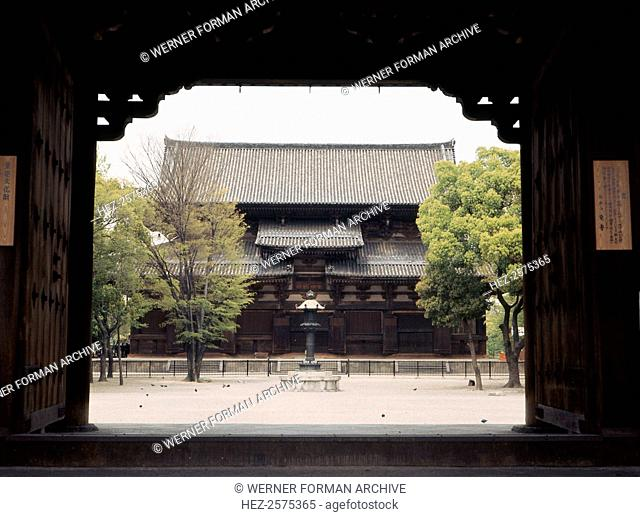 To temple complex, Kyoto. Country of Origin: Japan. Culture: Zen Buddhist/Japanese. Date/Period: Momoyama 1573-1600. Credit Line: Werner Forman Archive