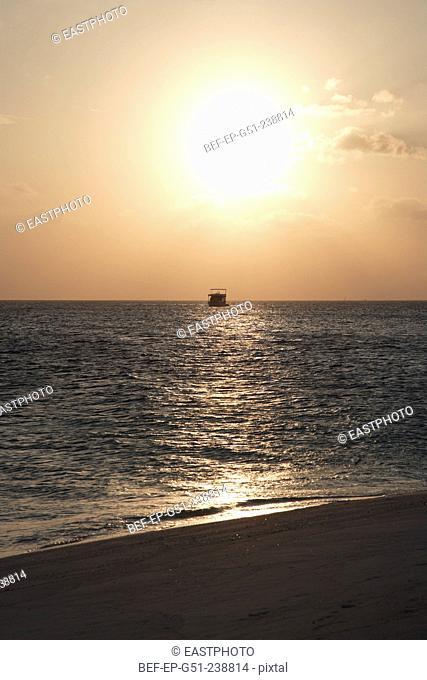 beach in Maldives in dusk