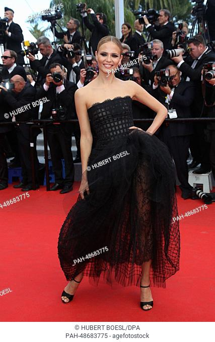 """Natasha Poly attends the premiere of """"""""Saint-Laurent"""""""" during the 67th Cannes International Film Festival at Hotel Majestic in Cannes, France, 17 May 2014"""