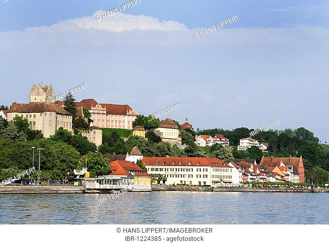View from the lake on Meersburg, Lake Constance, Baden-Wurttemberg, Germany, Europe
