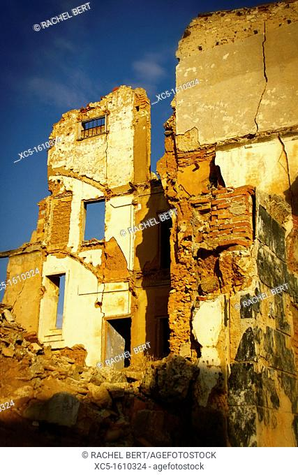 Belchite Old Town  Ruins of the Spanish Civil War 1936-1939  Zaragoza, Aragon, Spain