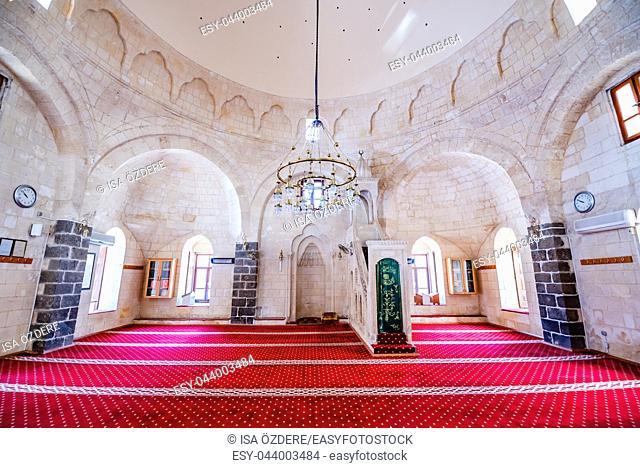 View of Huseyin Pasa(Pasha)Mosque in Sanliurfa city center. Sanliurfa,Turkey. 19 July 2018