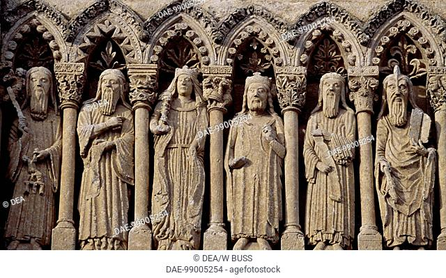 Frieze with Old Testament characters, detail from the facade of the Cathedral of Santa Maria, Ciudad Rodrigo, Castile and Leon