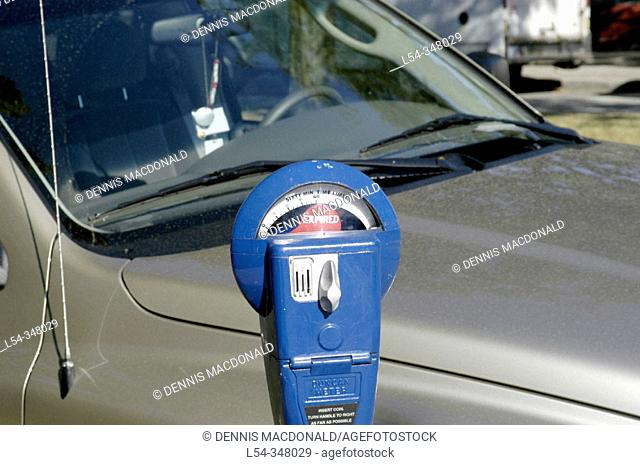 Parking meter showing expired time