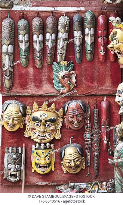 masks for sale, Kathmandu, Nepal
