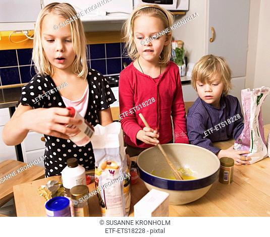 Children baking, Sweden