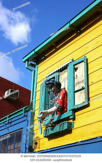 "Historical building in the famous Neighborhood of """"La Boca"""" in Buenos Aires, Argentina"