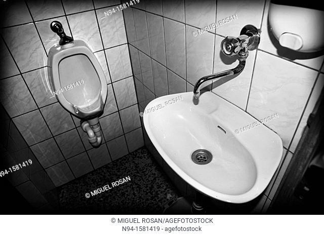 Toilet of a bar in Knezica, Croatia, Bosnia Herzegovina
