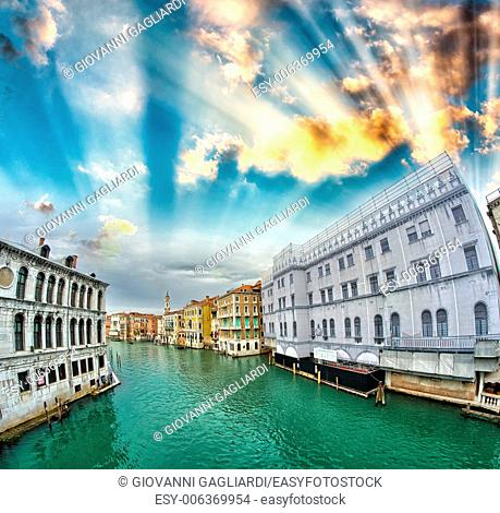 Buildings of Venice along Grand Canal