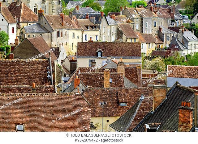 castillo del conde Branicki, Montrésor, departamento de Indre y Loira, France,Western Europe