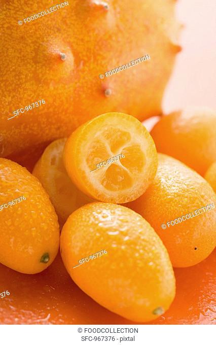 Kiwano and kumquats