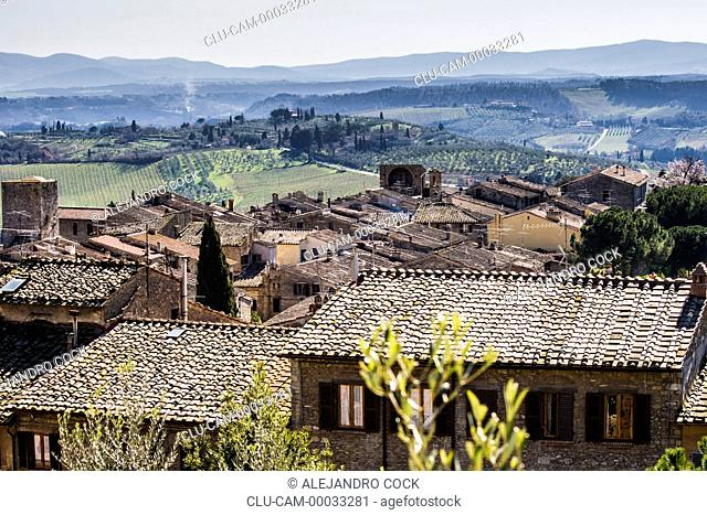 Traditionals Housing of Arezzo, Tuscany, Florence, Italy, Western Europe