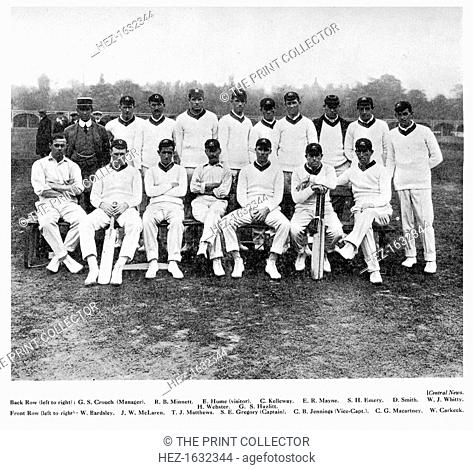The Australian cricket team of 1912. From Imperial Cricket, edited by P F Warner and published by The London and Counties Press Association Ltd (London, 1912)