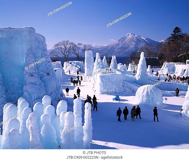 Lake Shikotsu Ice festival Chitose Hokkaido Japan Ice