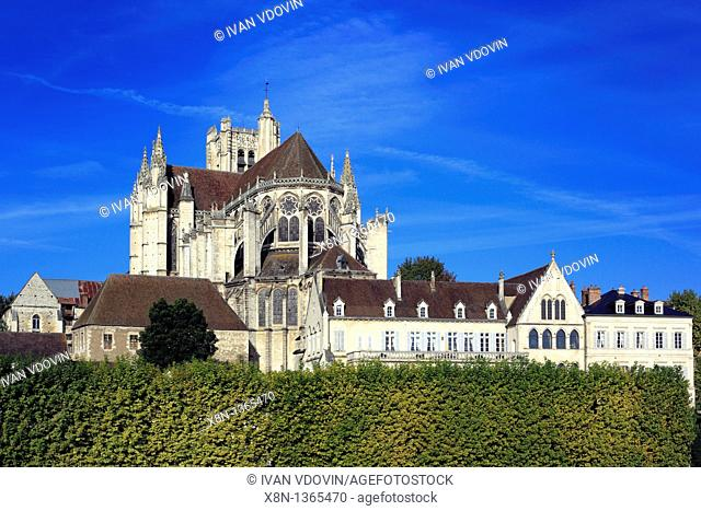 Auxerre Cathedral Saint-Etienne, Auxerre, Yonne department, Burgundy, France