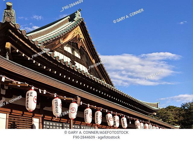 Festival lanterns at Daibo Hongyoji Temple in Ikegami, Tokyo, Japan