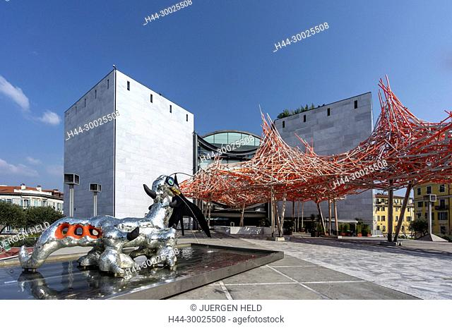 Museum Of Modern And Contemporary Art, Nice, Alpes Maritimes, Provence, French Riviera, Mediterranean, France, Europe
