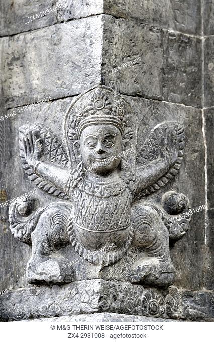 Garuda stone sculpture, Pashupatinath Temple, Unesco World Heritage Site, Kathmandu, Nepal