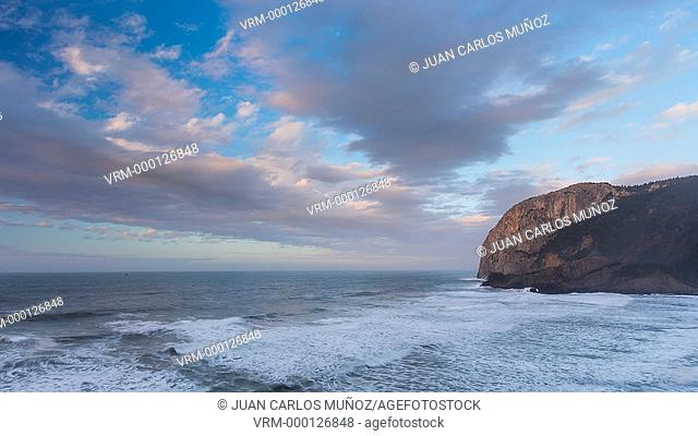 Cabo Ogoño, The Urdaibai estuary, Natural region and Biosphere Reserve of Biscay, Basque Country, Spain, Europe