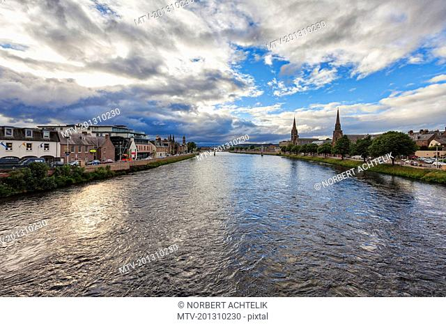 Scenic view of Inverness City and the River Ness, Scotland