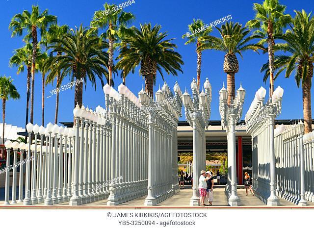 Urban lights are a poplar art installation in Los Angeles