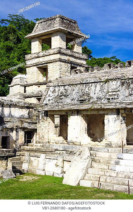 El palacio, Palenque, Chiapas, Mexico