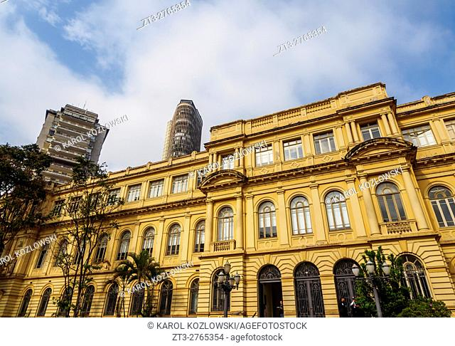 Brazil, State of Sao Paulo, City of Sao Paulo, State Office of Education Building on Republica Square