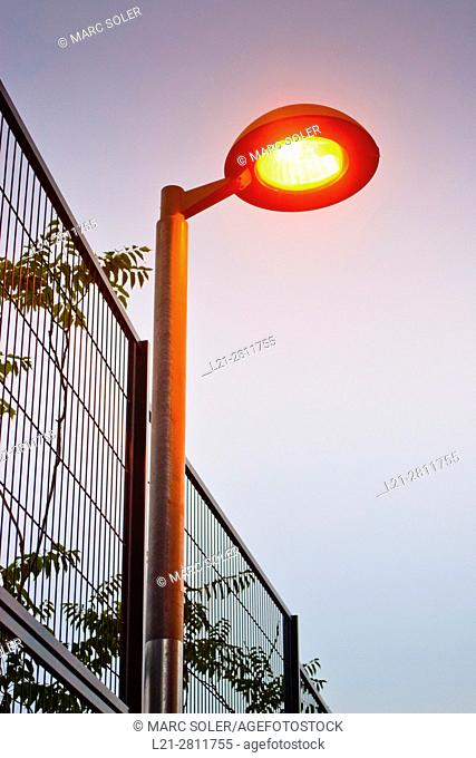 Streetlight, lantern. Barcelona, Catalonia, Spain