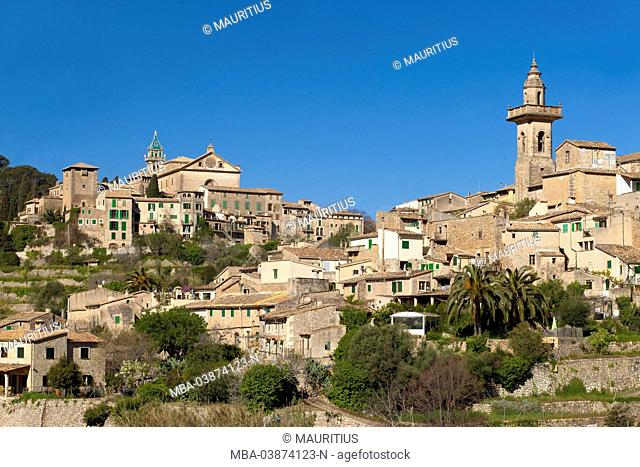 Spanish Balearic Islands, Island Majorca, Serra de Tramuntana, Valldemossa, local overview
