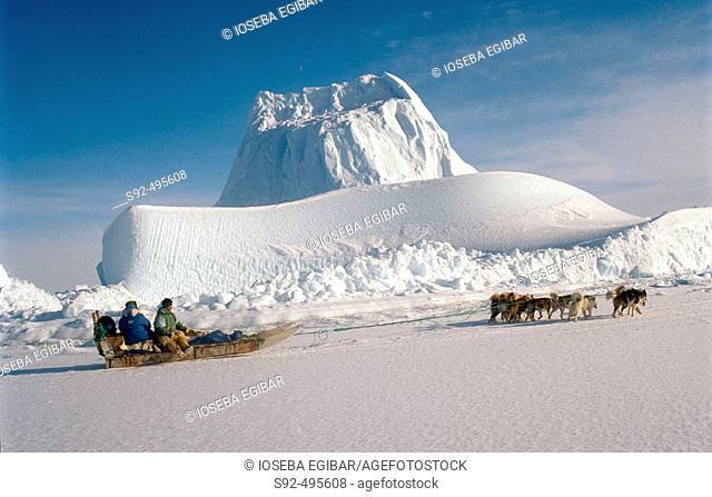 Greenland coast. North Pole