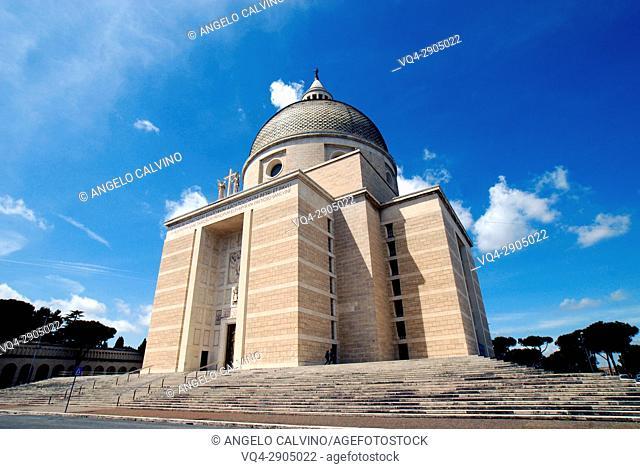 "Basilica dei Santi Pietro e Paolo, Church of St Peter & Paul, Arnaldo Foschini 1939 â. "" 1955, Rome, EUR, Italy"