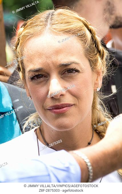 Lilian Tintori, wife of political leader Leopoldo Lopez, imprisoned by the government of Nicolas Maduro, for more than 3 years
