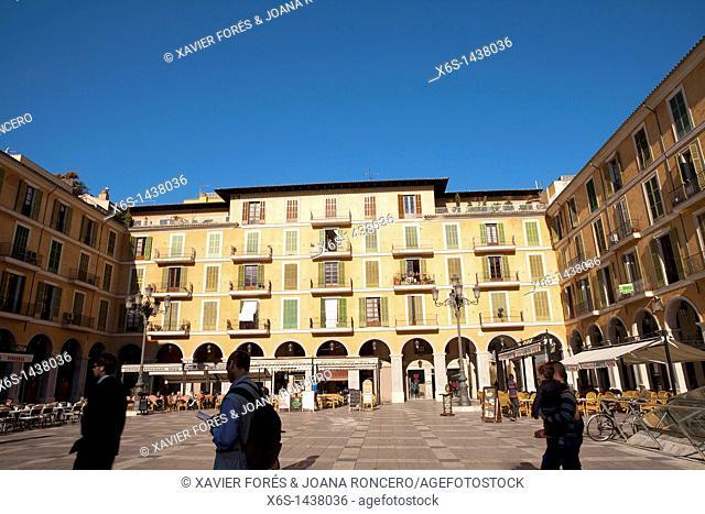 Plaza Major, Palma de Majorca, Majorca, Spain