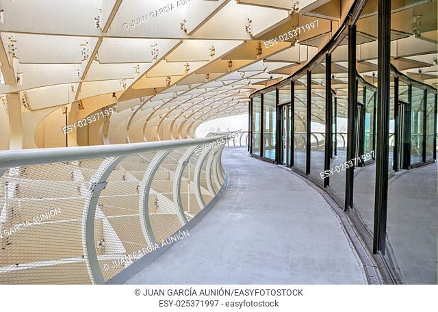 Space Metropol Parasol interior Structures, Seville, Spain