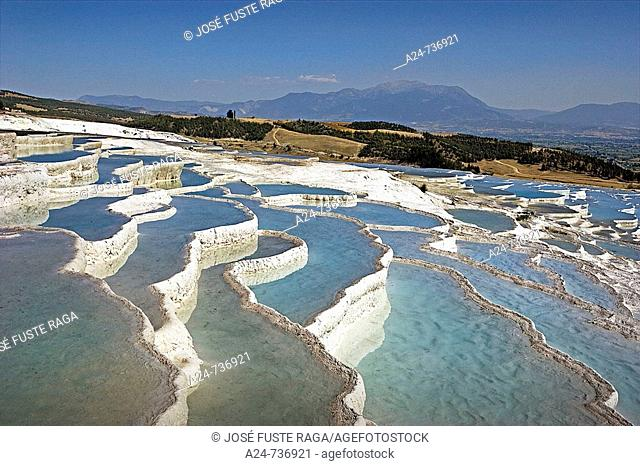 Travertines terraces, Pamukkale, Turkey