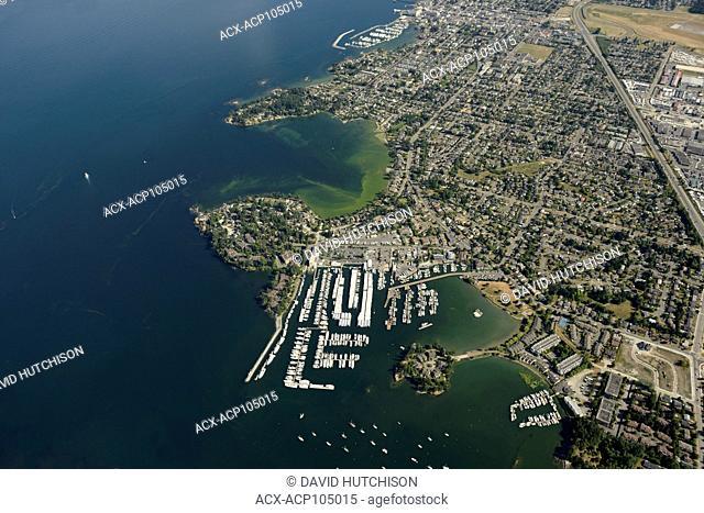 Aerial of Sidney, BC Canada