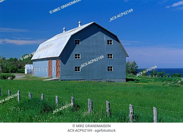 Barn on Gaspe Peninsula, Petite Matane, Quebec, Canada