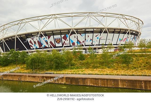London 2012 Olympic Stadium now the home of West Ham United football club, Queen Elizabeth Olympic Park, Stratford, London