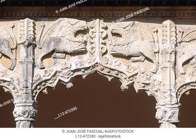 Detail of Palacio del Infantado (1480-83) by Juan Guas, Guadalajara. Castilla-La Mancha, Spain