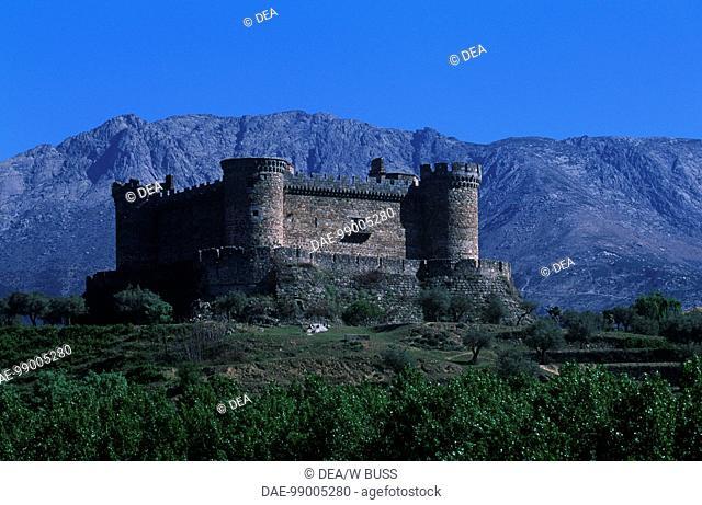 Castle of Dukes of Albuquerque at Mombeltran. Castile and Leon, Spain