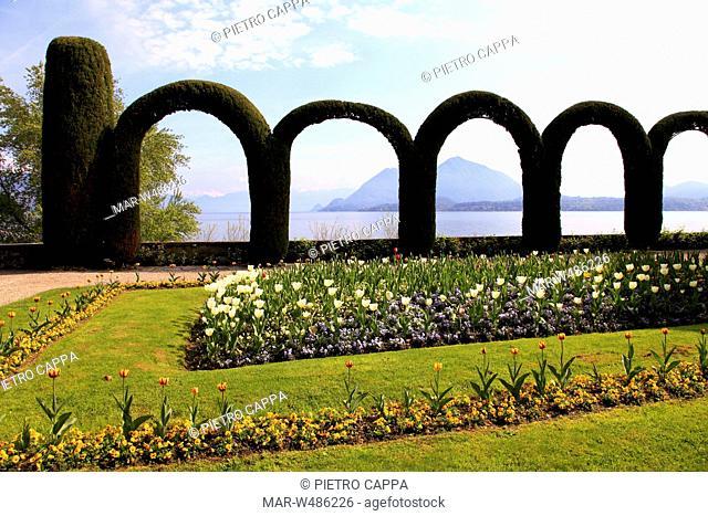parco della villa pallavicino, stresa, lago maggiore, piemonte, italia