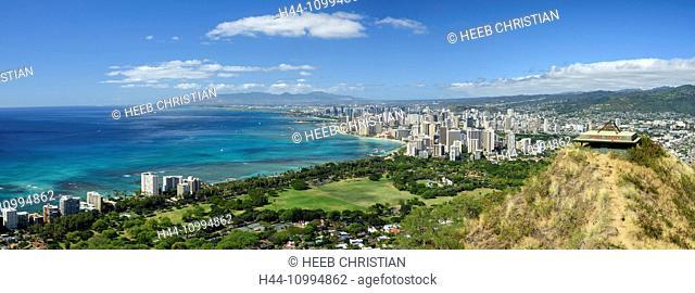 USA, Hawaii, Oahu, Honolulu, Diamond head state Monument