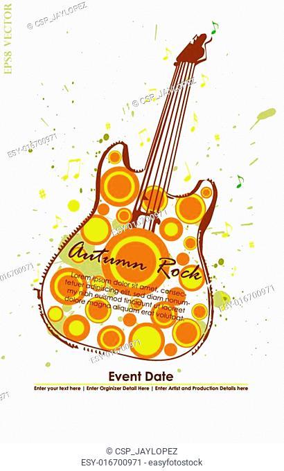 Autumn Guitar Poster