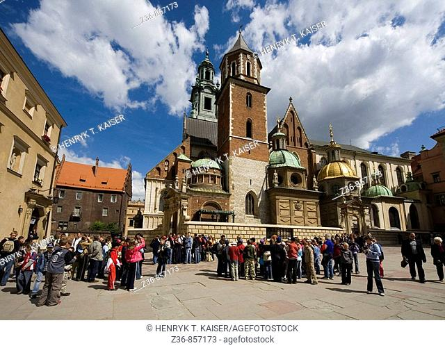 Poland, Krakow, Sigismund's Cathedral and Chapel as part of Royal Castle at Wawel