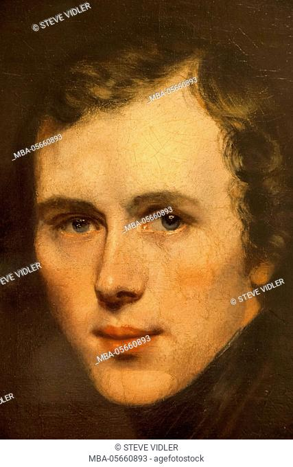 England, Kent, Cantebury, The Beaney Institute Public Library and Museum, Self Portrait of The Artist Thomas Sidney Cooper dated 1832